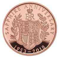 Großbritannien : 5 Pfund Krönungsjubiläum Elizabeth II  2018 PP