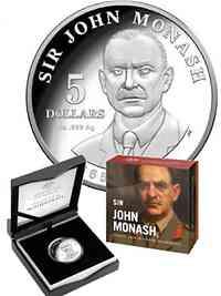 Australien : 5 Dollar Sir John Monash  2018 PP