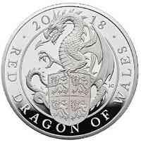Großbritannien : 500 Pfund The Queen's Beasts Der rote Drache von Wales  2018 PP