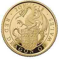 Großbritannien : 100 Pfund The Queen's Beasts Der rote Drache von Wales  2018 PP