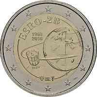 Belgien : 2 Euro ESRO-2B Satellit  2018 bfr