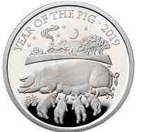 Großbritannien : 10 Pfund Year of the Pig 5 Oz  2019 PP