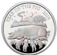 Großbritannien : 500 Pfund Year of the Pig Kilo  2019 PP