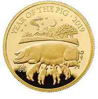 Großbritannien : 100 Pfund Year of the Pig 1 Oz  2019 PP