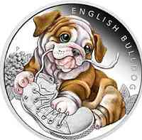 Tuvalu : 50 Cent Hundebabies - Englische Bulldogge  2018 PP