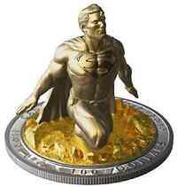 Kanada : 100 Dollar Superman - Der letzte Sohn Kryptons/Skulpturmünze  2018 PP