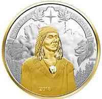 Kanada : 25 Dollar 250. Geburtstag von Tecumseh - Piedfort  2018 PP
