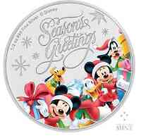 Niue : 1 Dollar Disney - Season's Greetings ½ Oz  2018 PP