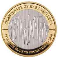 Großbritannien : 2 Pfund 200 J. Mary Shelley´s Frankenstein  2018 PP