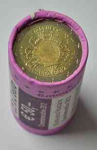 2 Euro 10 Jahre Euro Bargeld in Originalrolle - Sichtrolle 2012 Stgl. Luxemburg