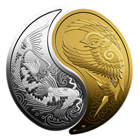 Kanada : 1 Dollar Große Münzen - Eistaucher - Flying Loon  2019 PP