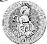 Großbritannien : 10 Pfund The Queen´s Beasts - Einhorn 10 oz  2018 Stgl.