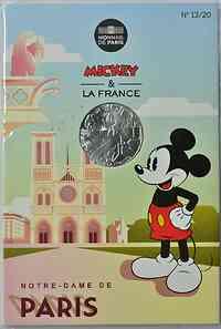 Frankreich : 10 Euro Notre Dame Paris 13/20  2018 bfr