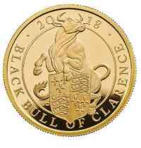Großbritannien : 100 Pfund The Queen's Beast - Black Bull of Clarence  2018 PP