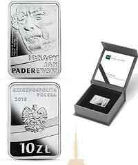 Polen : 10 Zloty 100 J. Unabhängigkeit - Ignacy Jan Paderewski  2018 PP