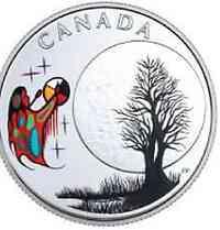 Kanada : 3 Dollar Big Spirit Moon - Die 13 Lehren von Grandm. Moon  2018 PP