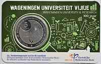 5 Euro Uni Wageningen 2018 Stgl. Niederlande Coincard