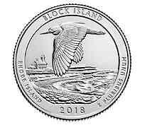 USA : 25 Cent Block Island Wildlife Refuge/Rhode Island 5 oz  2018 Stgl.