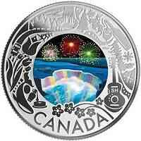 Kanada : 3 Dollar Feuerwerk an den Niagarafällen – Kan. Feste  2019 PP