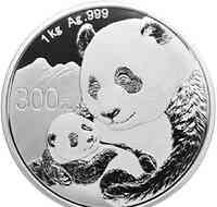 China : 300 Yuan Silberpanda 2019 PP