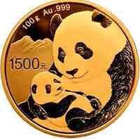 China : 1500 Yuan Goldpanda 2019 PP