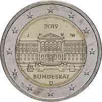 Deutschland : 2 Euro Bundesrat - Buchstabe unserer Wahl  2019 bfr