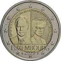 Luxemburg : 2 Euro 100. Jahrestag von Großherzogin Charlottes Thronbesteigung und Hochzeit  2019 bfr