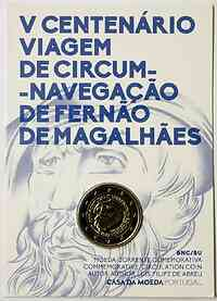 Portugal : 2 Euro 500. Jahrestag der Weltumseglung durch Magellan  2019 Stgl.