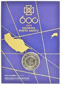 2 Euro Madeira 2019 Stgl. Portugal Coincard