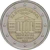 Estland : 2 Euro 100. Jahrestag der Gründung der estnischsprachigen Universität Tartu  2019 bfr