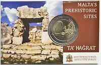 2 Euro Ta Hagrat 2019 Stgl. Malta Coincard