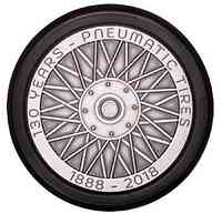 Niue : 5 Dollar 130 years of pneumatic tire- Antique 2019 Stgl.