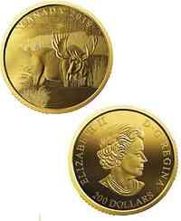 Kanada : 200 Dollar Kanadischer Elch 999,99er Gold  2019 PP