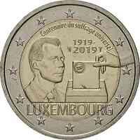 Luxemburg : 2 Euro 100 Jahre allgemeines Wahlrecht in Luxemburg  2019 bfr