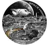 Niue : 1 Dollar Space mining II- Antique finish  2019 PP