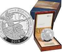 Großbritannien : 250 Pfund Britannia 1 kg 2019 PP