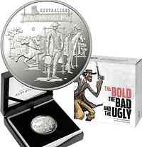 Australien : 1 Dollar The Bold, The Bad & The Ugly - im Etui  2019 PP