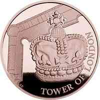 Großbritannien : 25 Pfund Tower v. London - Die Kronjuwelen  1/4 oz  2019 PP