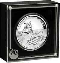 Australien : 8 Dollar 50 Jahre Mondlandung 5 oz 2019 PP