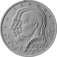 Tschechische Republik : 200 Kronen 150 Geb. Ales Hrdlicka - Anthropologe  2019 Stgl.