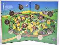 Frankreich : Asterix Medaillen-Set - 9 offizielle Mini-Medaillen 2019 Stgl.