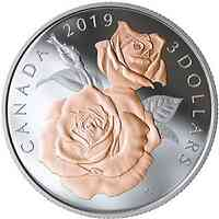 Kanada : 3 Dollar Queen Elizabeth Rose  2019 PP