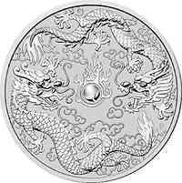 Australien : 1 Dollar Double Dragon 1 oz  2019 Stgl.