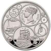 Großbritannien : 5 Pfund 200. Geburtstag Queen Victoria - Piedfort  2019 PP