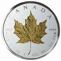 Kanada : 50 Dollar 40 Jahre Gold Maple Leaf  2019 PP