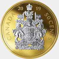 Kanada : 50 Cent  Große Münzen - Wappen #5  2019 PP