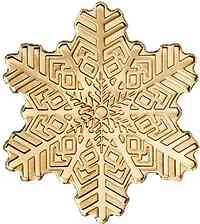 Cook Islands : 5 Dollar Golden Snowflake - Silk Finish  2019 Stgl.