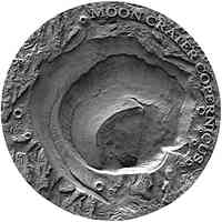 Niue : 1 Dollar Copernicus Moon Crater- Antique finish  2019 PP