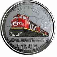 Kanada : 25 Cent 100 J. Canadian National Railway  2019 Stgl.