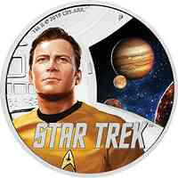 Tuvalu : 1 Dollar Star Trek - Captain James T.Kirk  2019 PP